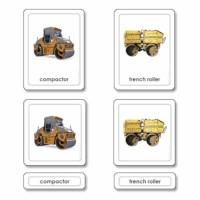Construction Equipment 3 Part Cards